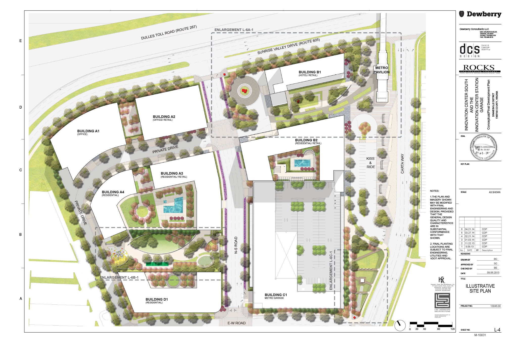 Site plans innovation center south for Planner site