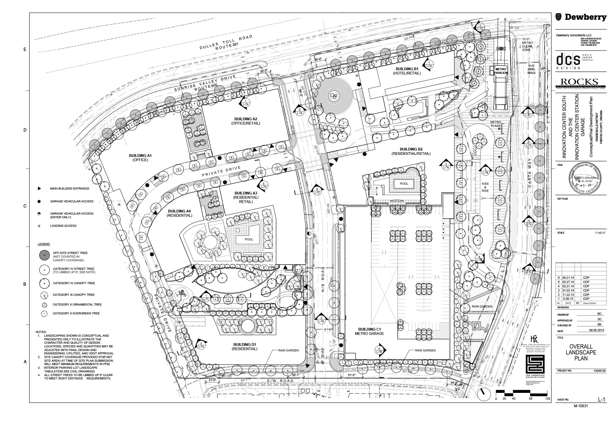Site plans innovation center south for Site plan with landscape