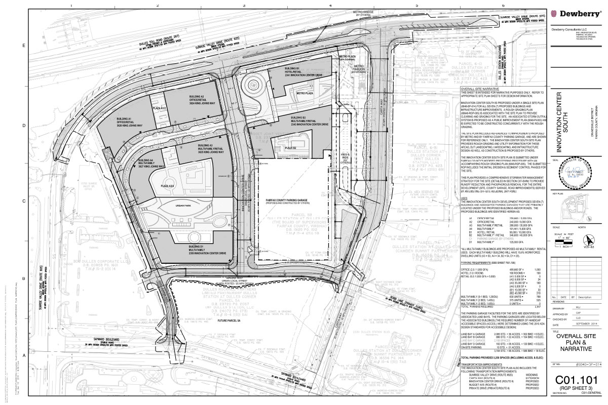 Site plans innovation center south for Site plan drawing online